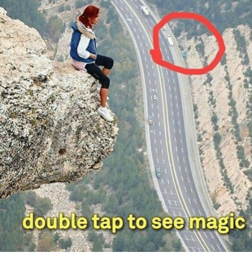 double tap to see magic