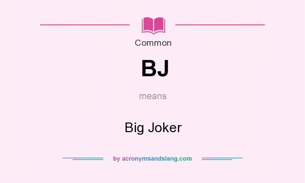 what does bj mean