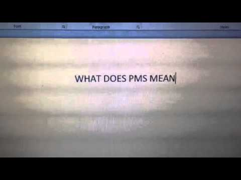 what does pms mean
