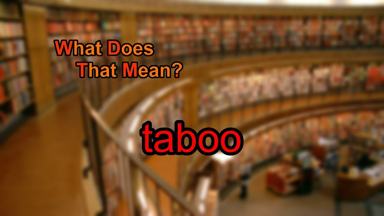 what does taboo mean